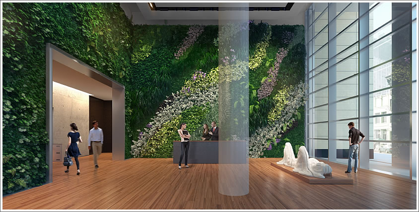 Socketsite the living wall and public art within this - How to build a living wall ...