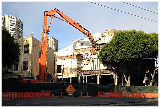 Demolition Of Derelict Pagoda Theater Is Underway