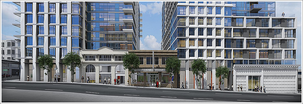 Rockwell Rendering: Pine Street Facade