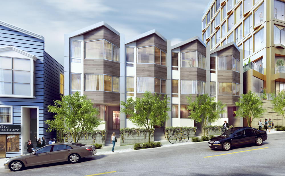 2155 Webster Rendering Townhomes
