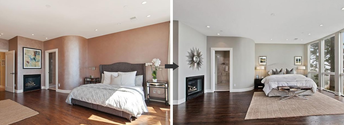 279 Castenada Avenue Bedroom: Before and After