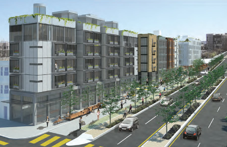 Central Freeway Parcel R and S Rendering