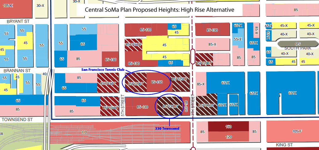 Central SoMa Plan Heights: High Rise Alternative