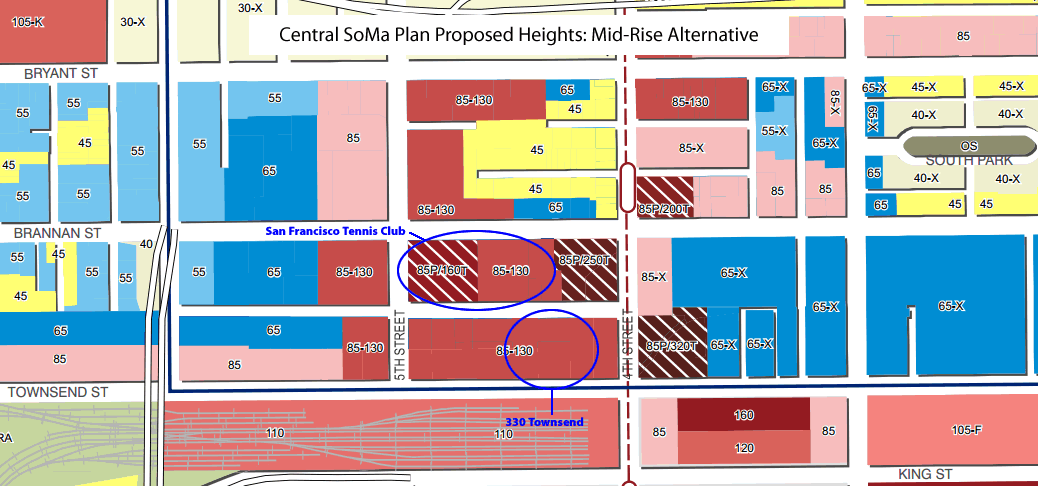 Central SoMa Plan Heights: Mid-Rise Alternative