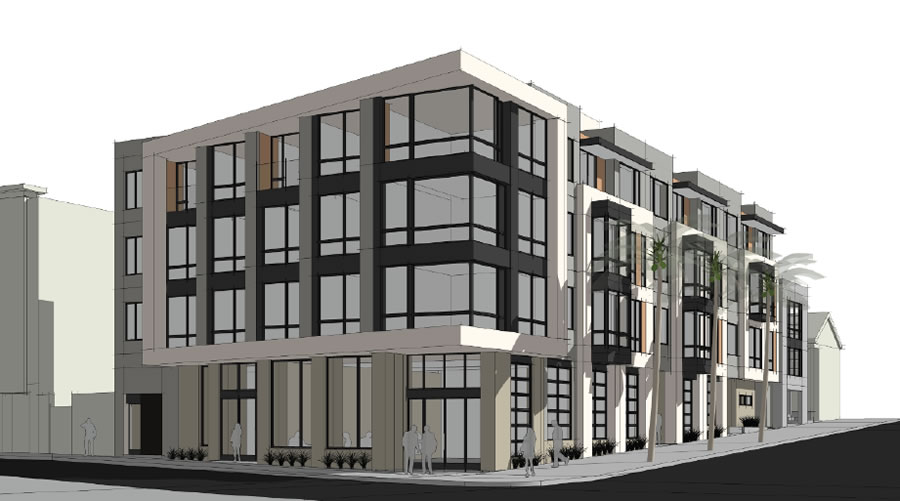 Ocean Avenue Rising: Designs For Four-Story Infill Development