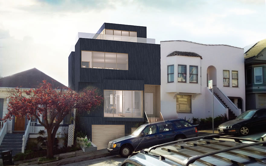 """Noe Valley """"Penthouse"""" Battle: Neighbors Say No, Planning Says…"""