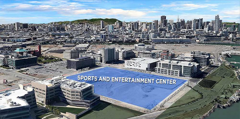 Golden State Warriors Mission Bay Arena Site