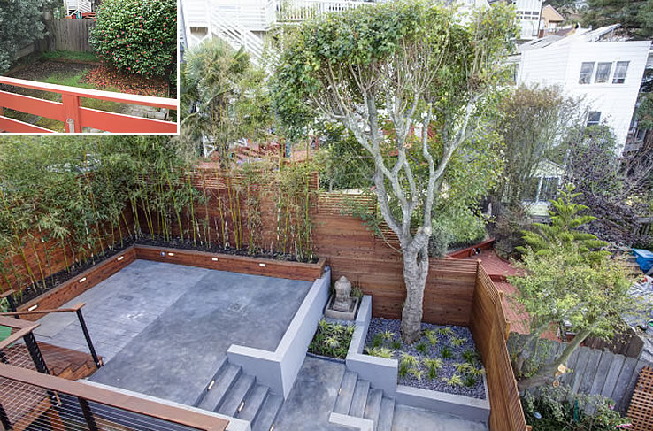 1750 Noe Street Yard: Before and After