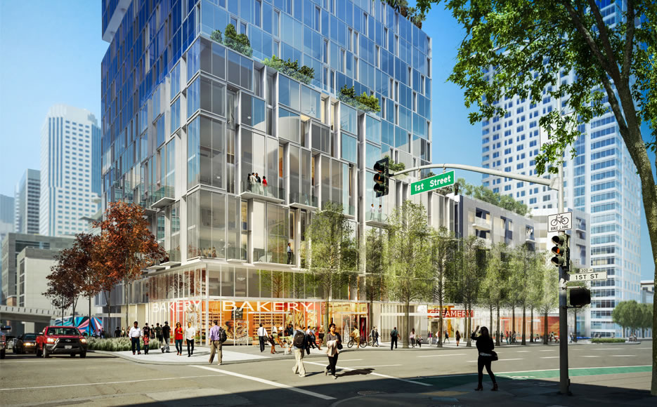 Transbay Block 8 Rendering: Folsom and First