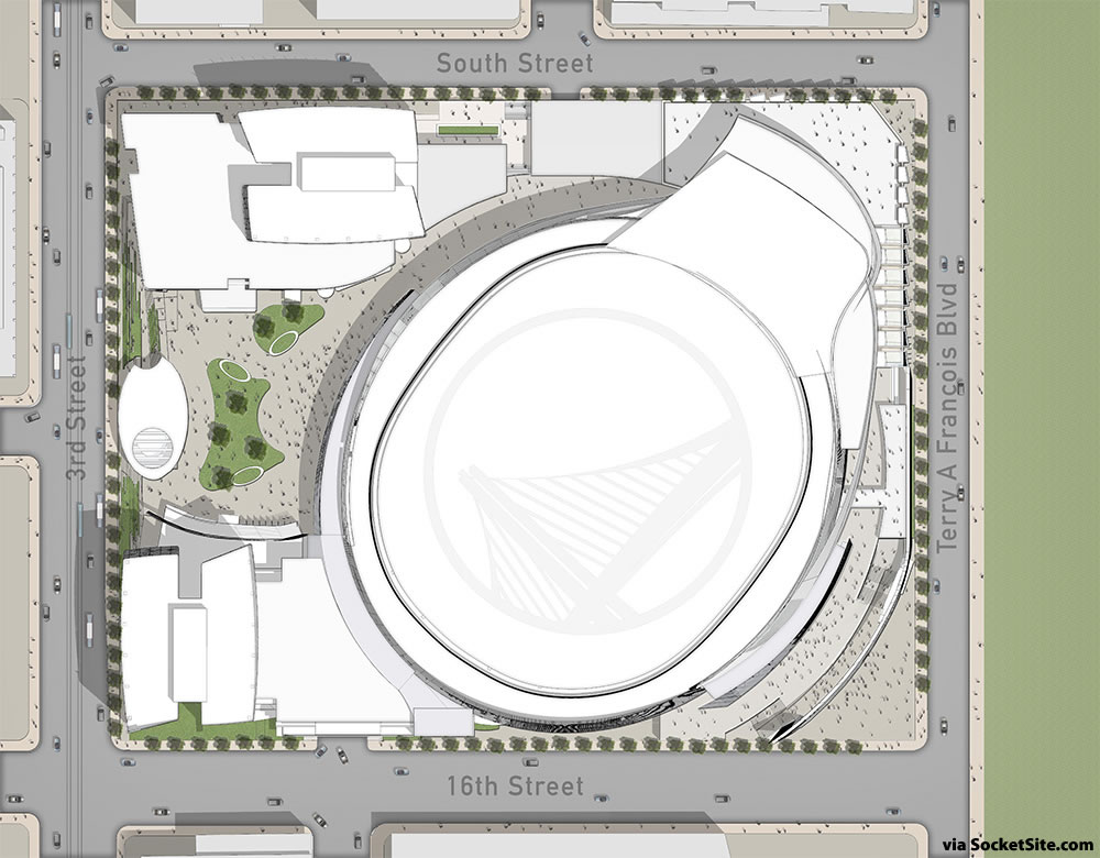 Golden State Warriors Mission Bay Site Plan