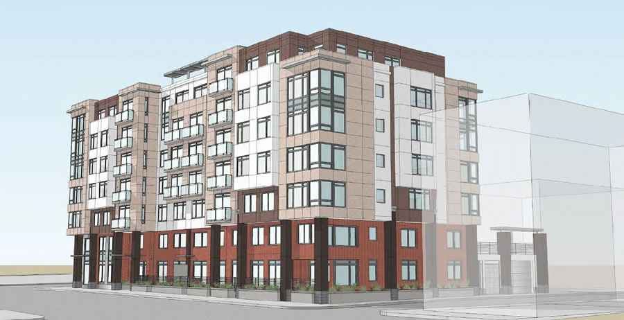 Revised 490 South Van Ness Avenue Rendering, Corner of Adair