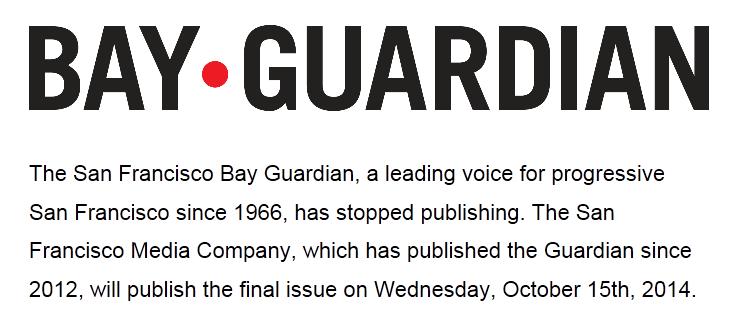 Bay Guardian Goodbye