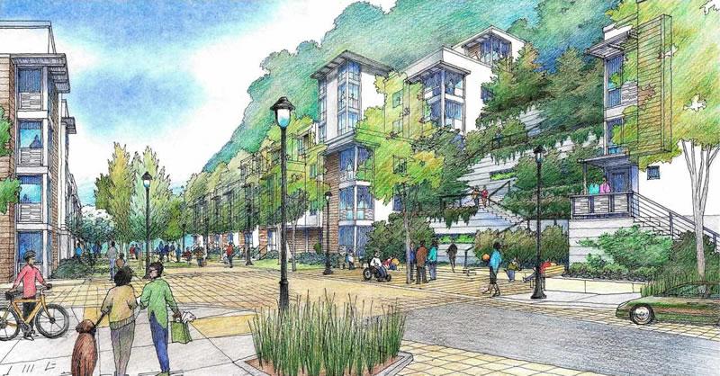 The Kirkham Project Rendering - Community Terrace