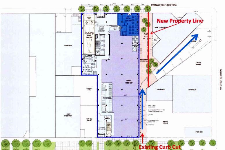 501-505 Brannan Street Site Plan