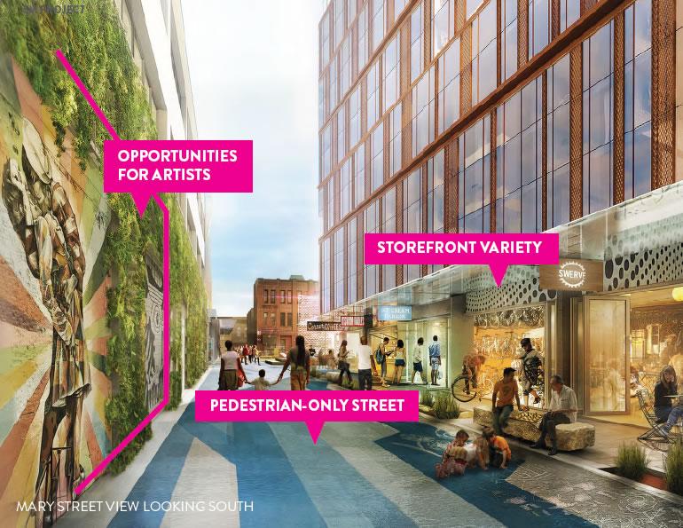 5M Project Rendering: Pedestrian Alley Design