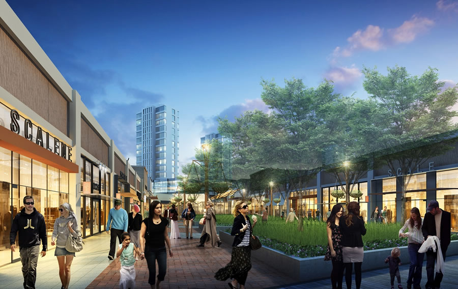 Candlestick Point Urban Outlet Rendering