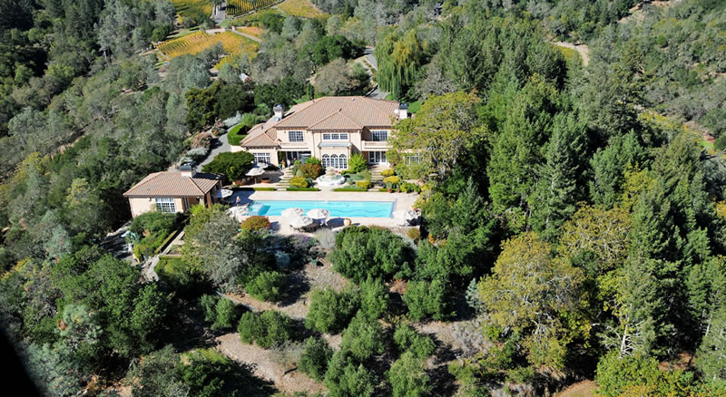 2900 Spring Mountain Road Villa Aerial