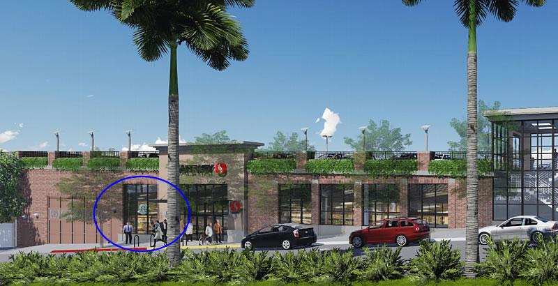 625 Monterey Boulevard Rendering: Starbucks