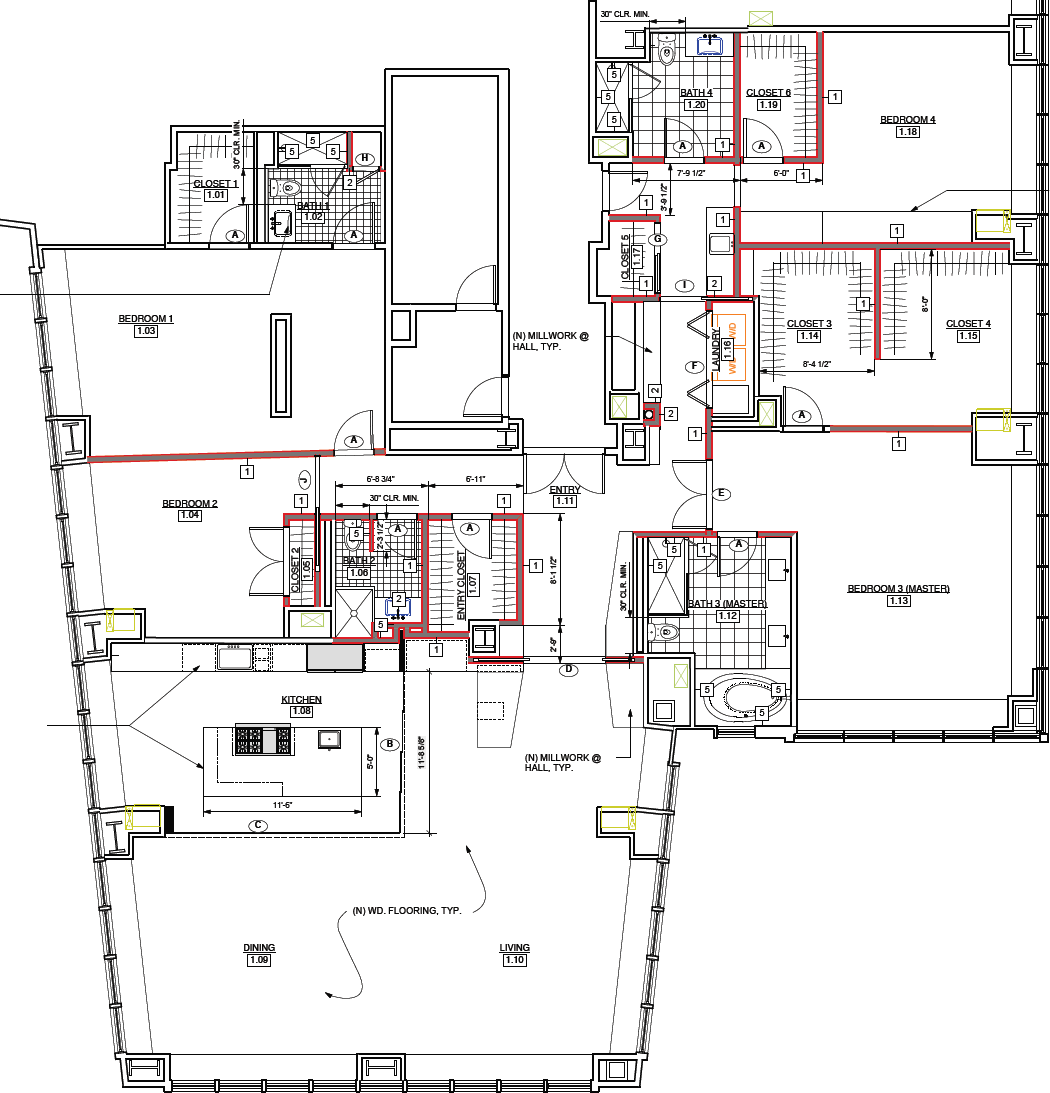 "Floor plan for 765 Market #22A ""Super Unit"""