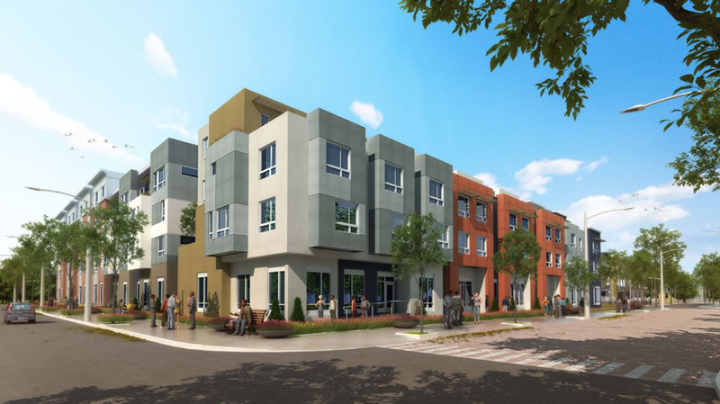 Alice Griffith Block 1 Rendering: NW Corner