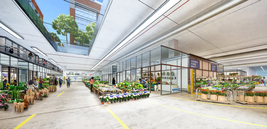 New Flower Mart Rendering - Underground