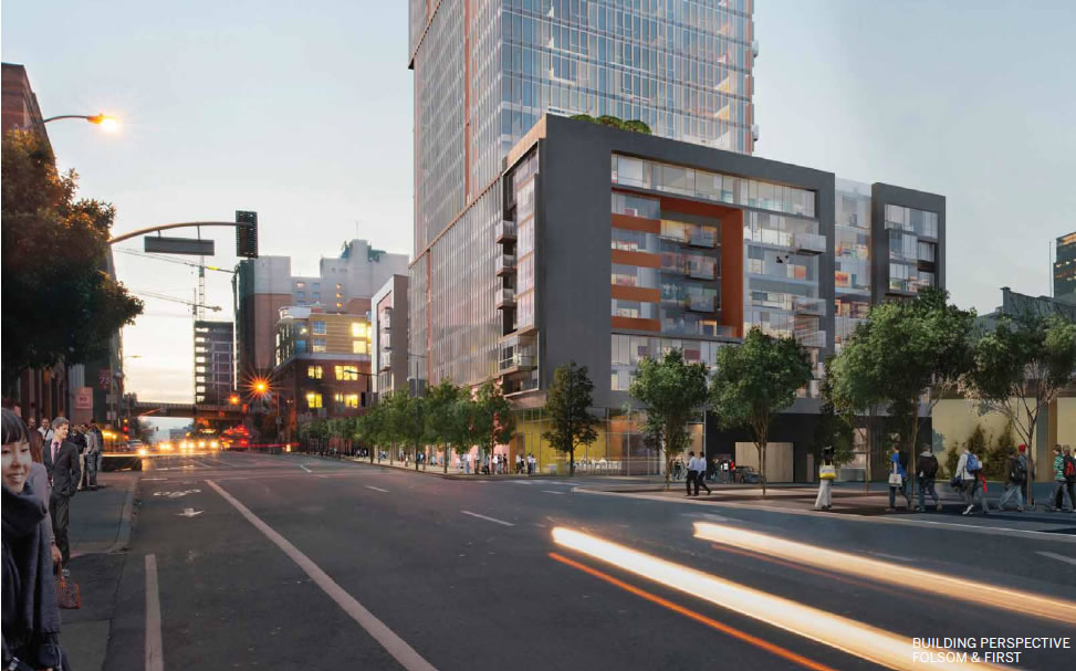Transbay Block 9 Rendering: Folsom and First