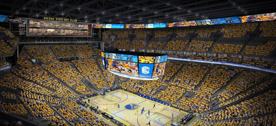 Warriors Mission Bay Arena Rendering: Inside the Arena