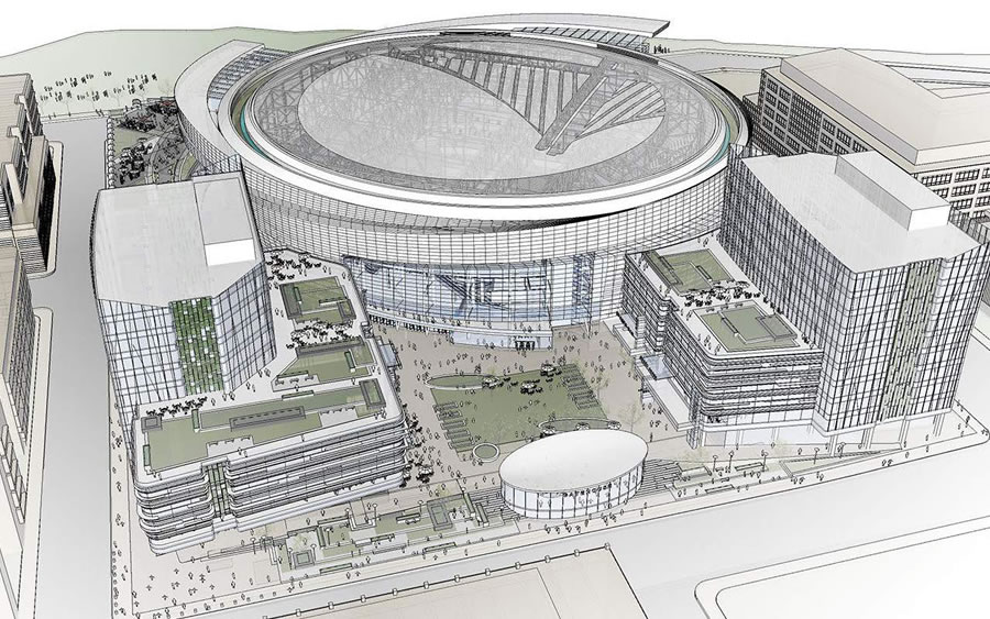 First Peek Inside Warriors Arena And The Designs For Along Third