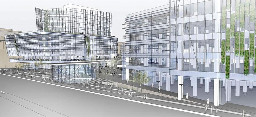 Warriors Mission Bay Arena Revised Concept Design: Third Street
