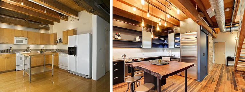 650 Delancey Street #309 Kitchen Before and After