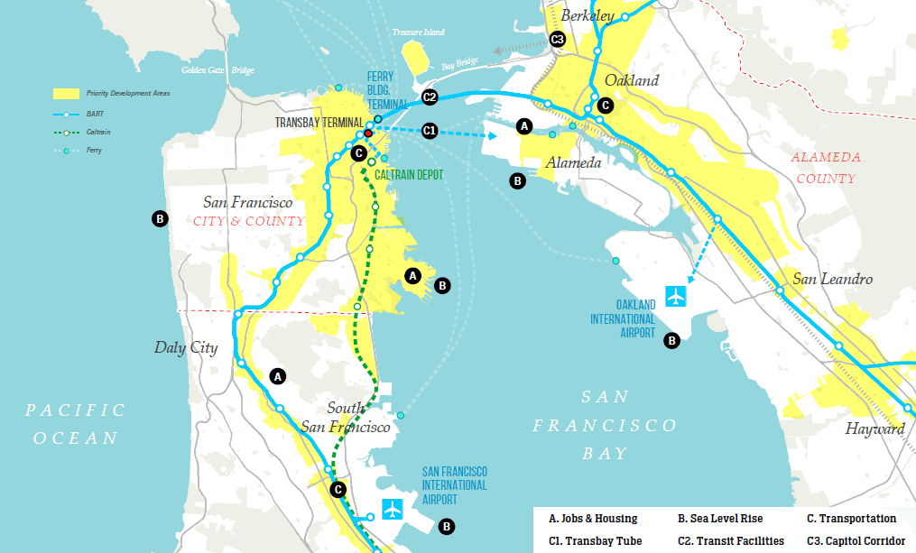 "SF's Push To ""Bridge The Bay"" And Priortity Areas For Development"