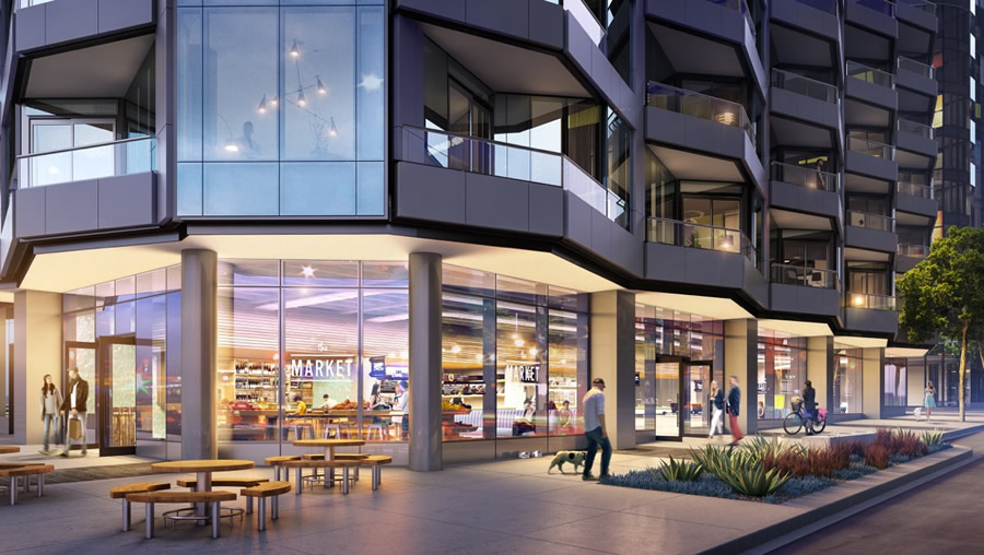 The Market on Main Rendering