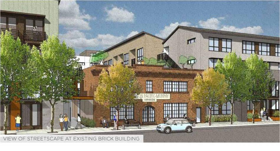1200 17th Street Rendering 2014 Brick Building