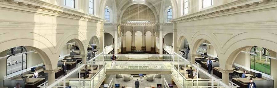 1401 Howard Rendering: The Mezzanine