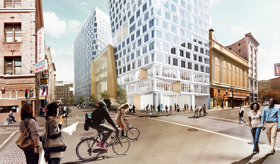 Modern Mid-Market Development Downsized, Art Center Cut
