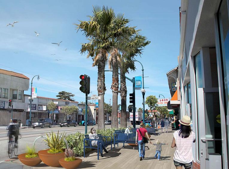 Ocean Avenue Corridor Rendering