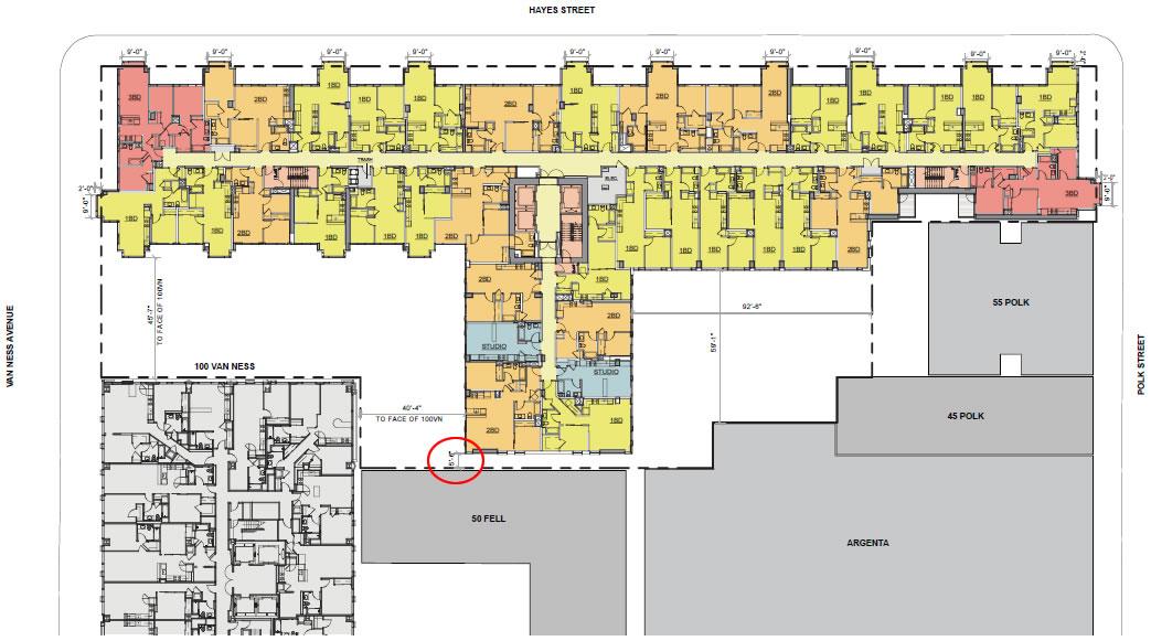 150 Van Ness: 13th Floor Plan