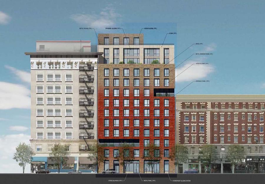 19-25 Mason Street Project Rendering: Mason Street Facade