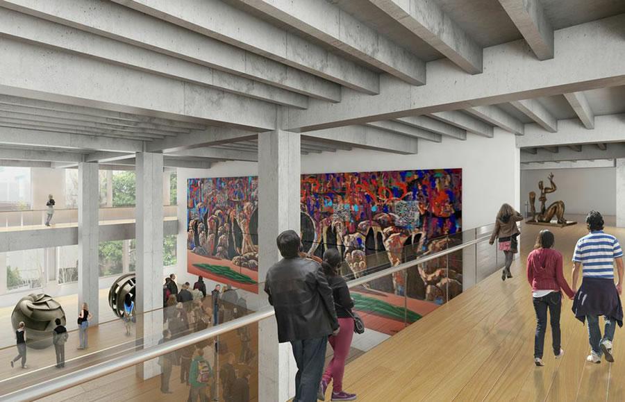 Mexican Museum Interior Rendering: Ten Arquitectos