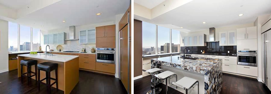 301 Mission Street #53D Kitchen: Before and After