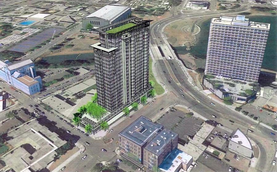 Lake Merritt Boulevard Apartments Rendering