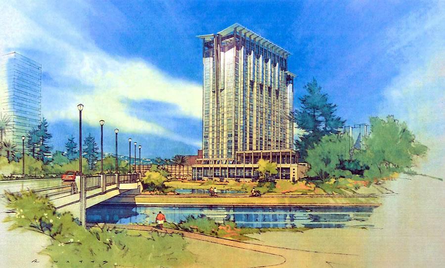Lake Merritt Boulevard Apartments Watercolor