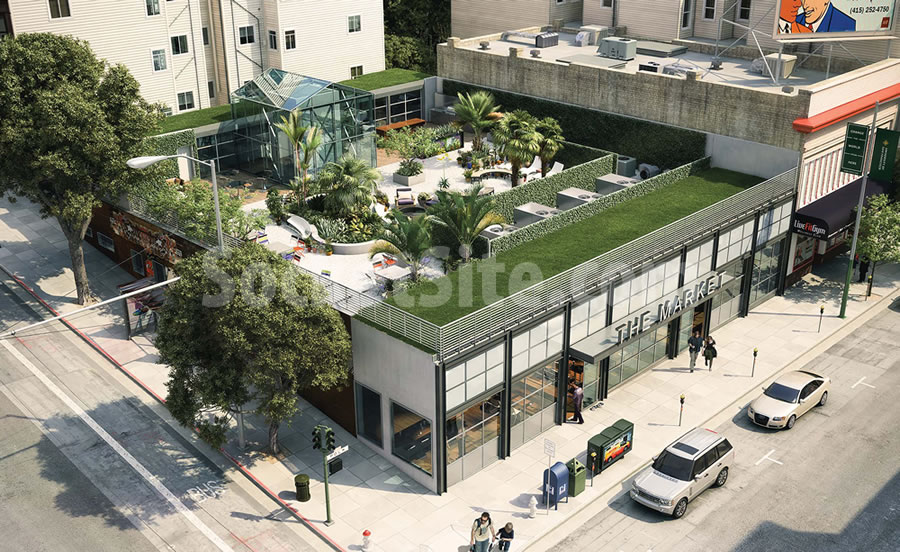 Plans For A Gourmet Grocery And Restaurant Hall On Polk