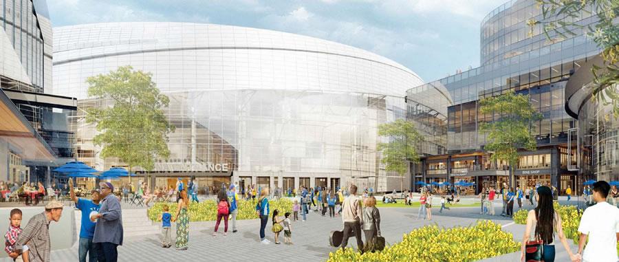 Warriors Mission Bay Arena Westside Plaza