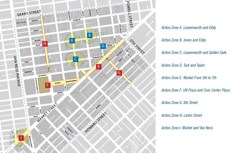 Central Market, Tenderloin and Sixth Street Strategy Action Zones