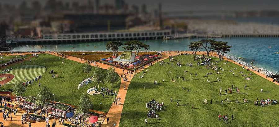 Mission Rock Rendering - Open Space