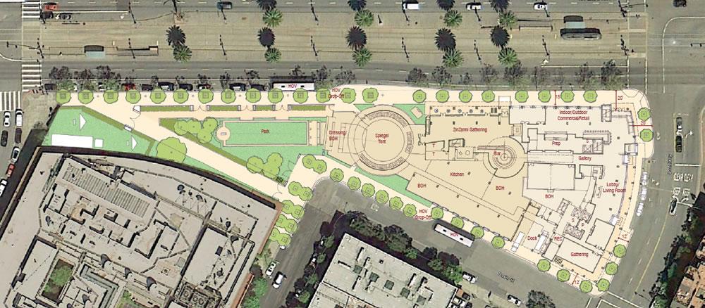 Teatro ZinZanni Site Plan