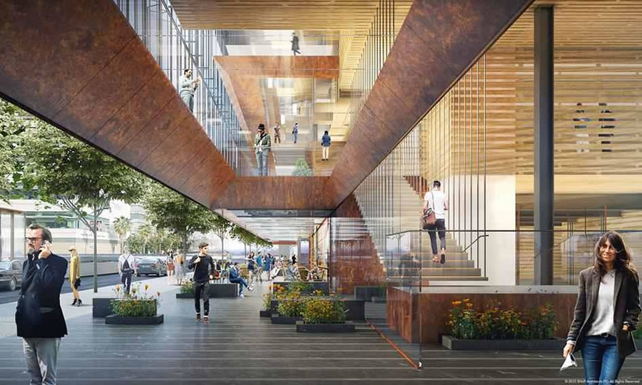 Uber Mission Bay Campus Rendering - SHoP - Commons