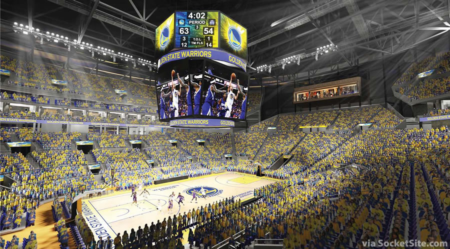 Warriors Mission Bay Arena Interior Rendering