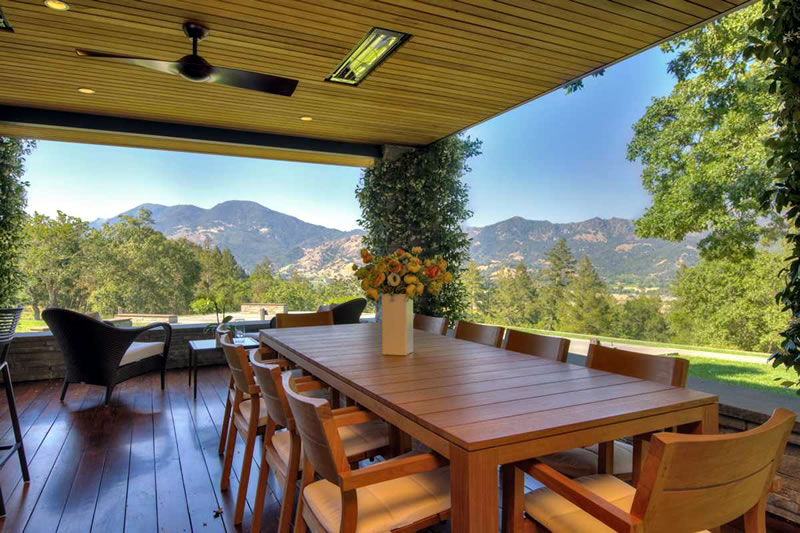 3145 State Highway 128, Calistoga - Front Loggia View